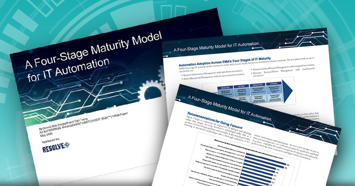 EMA Research: A Four-Stage Maturity Model for IT Automation